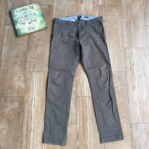 Men's J.Crew 👽 Grey Driggs Chino Pants 31/32